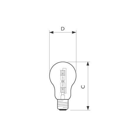 Dimensions - Eco Halogène standard E27
