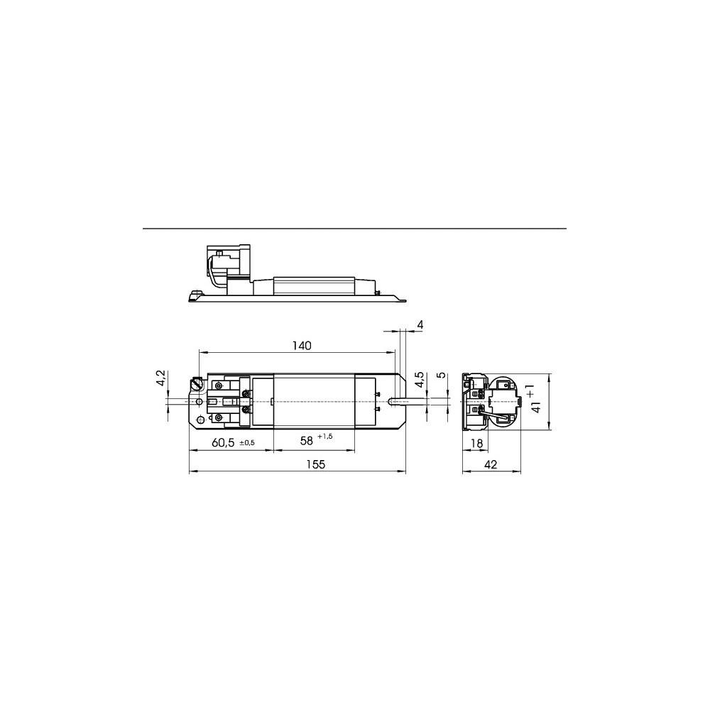 ballast ferromagn u00e9tique l 7  9  11 141 230v  50hz